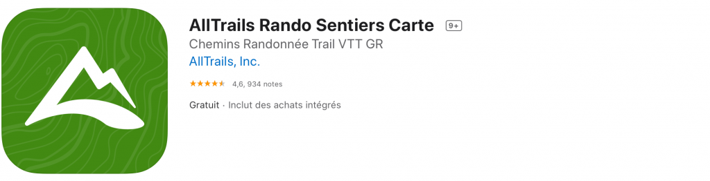 Application de randonnée - Alltrails
